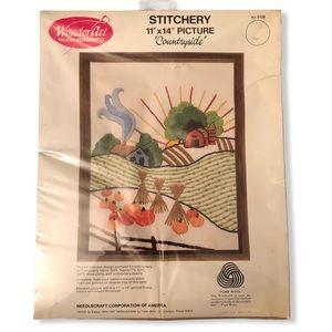 Stitchery Cross Stitch DIY Art Yarn Craft